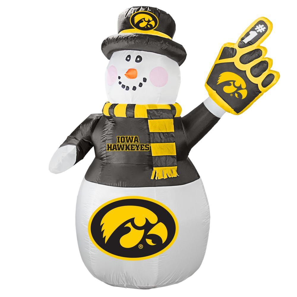 02ec1c883b2 7 ft. Iowa Hawkeyes Inflatable Snowman-486430 - The Home Depot