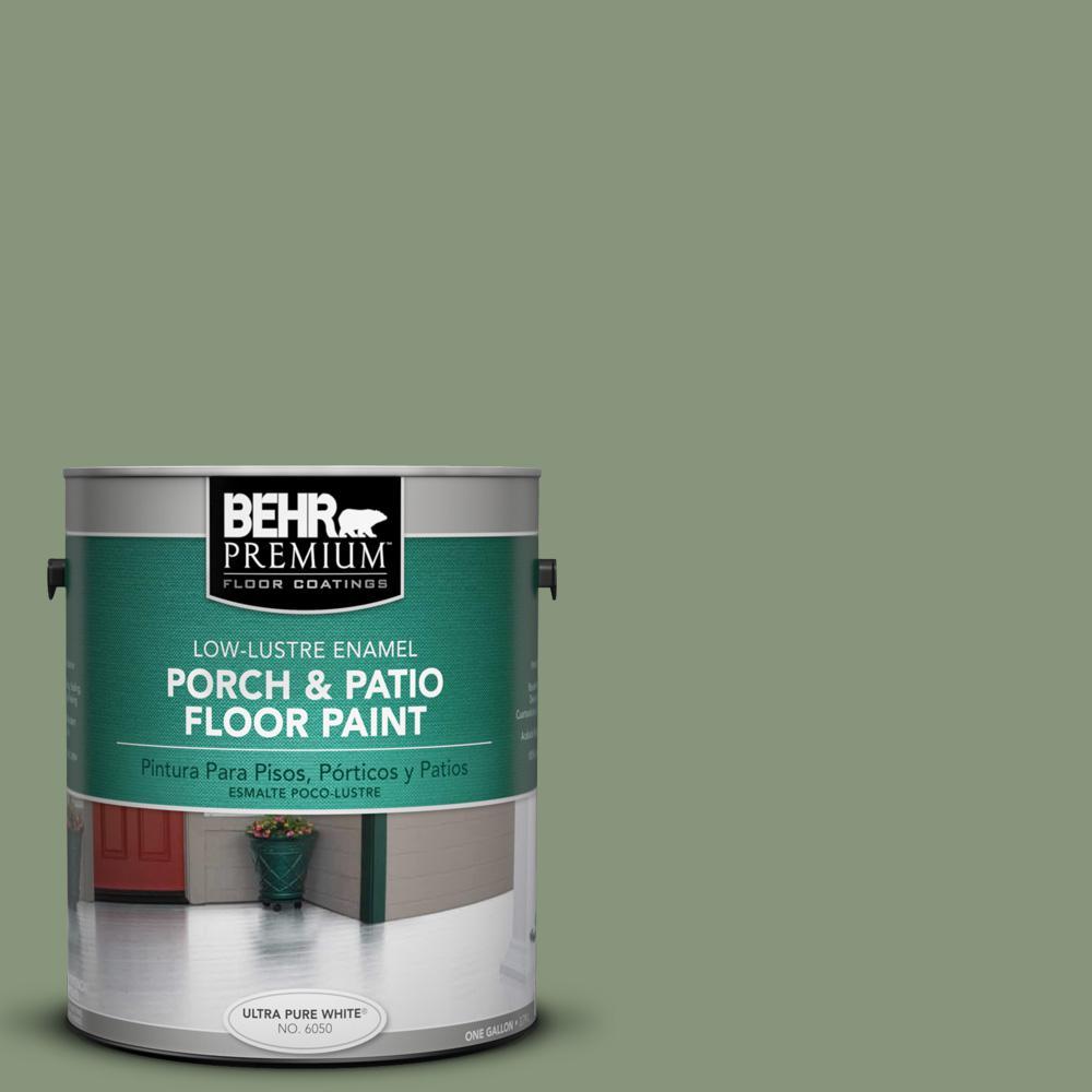1 gal. #S390-5 Laurel Tree Low-Lustre Porch and Patio Floor Paint