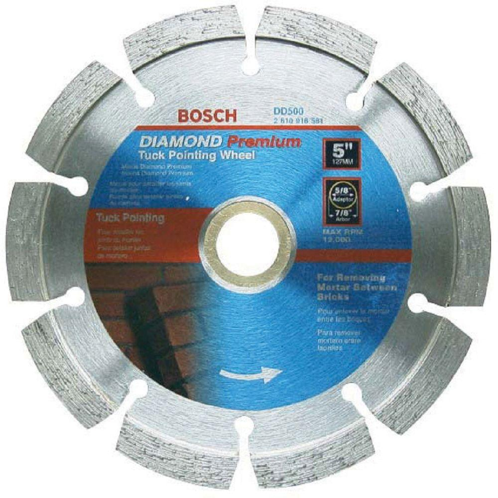 Bosch 5 in. Diamond Tuckpointing Grinder Blade for Cutting Tuck Point Mortar
