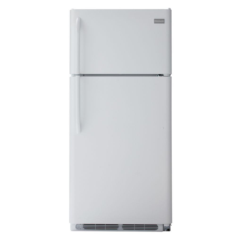 Frigidaire 18.2 cu. ft. Top Freezer Refrigerator in White-DISCONTINUED