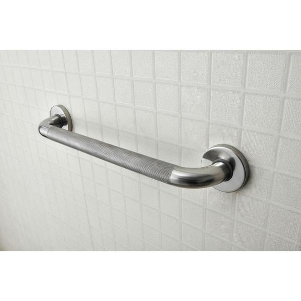 Evekare 16 In X 1 1 4 In Concealed Flange Ada Compliant Grab Bar In Knurled Stainless Steel Evk 0617 Icu The Home Depot