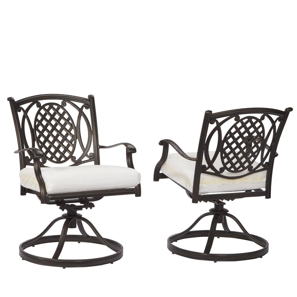 Hampton Bay Belcourt Custom Swivel Rocking Metal Outdoor ...