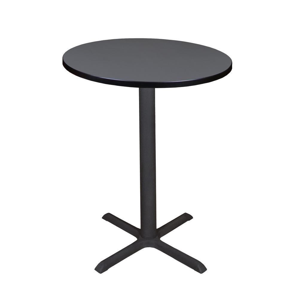 Cain Grey 30 in. Round Cafe Table