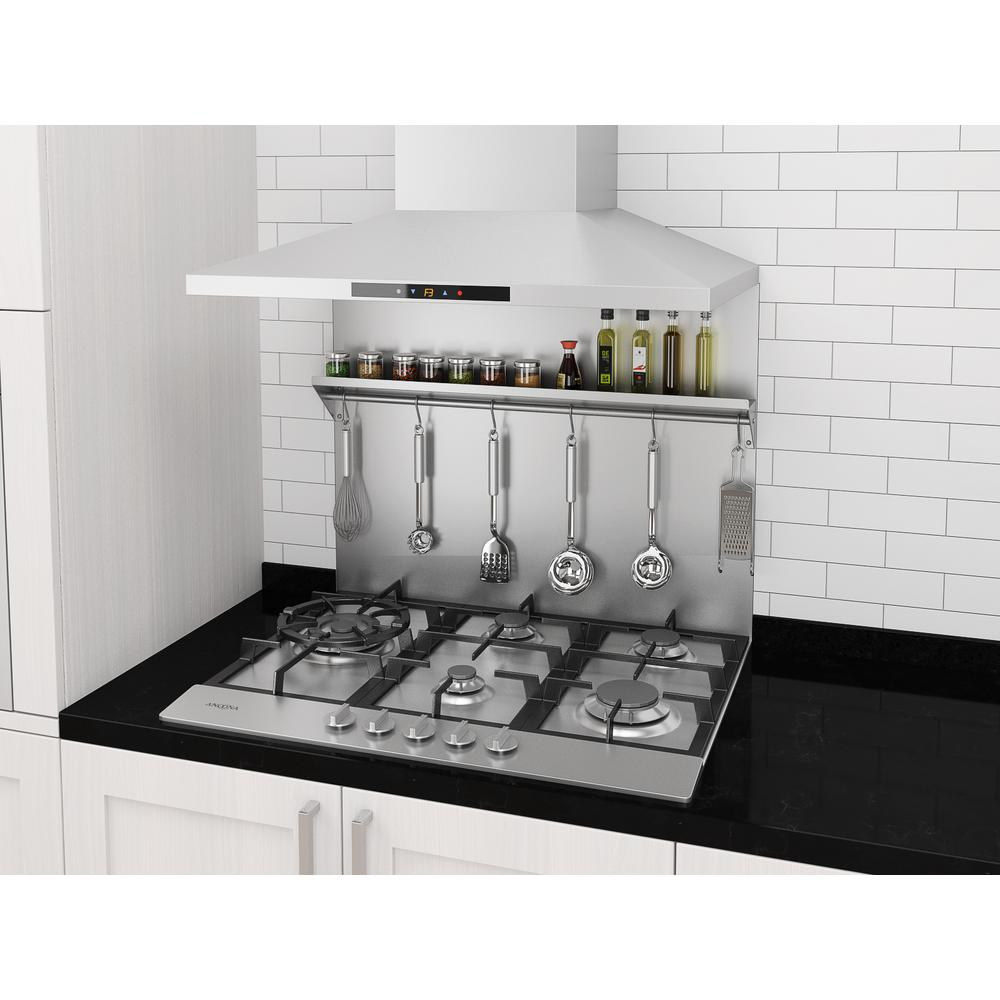 - Ancona 30 In. X 30.75 In. Stainless Steel Backsplash With