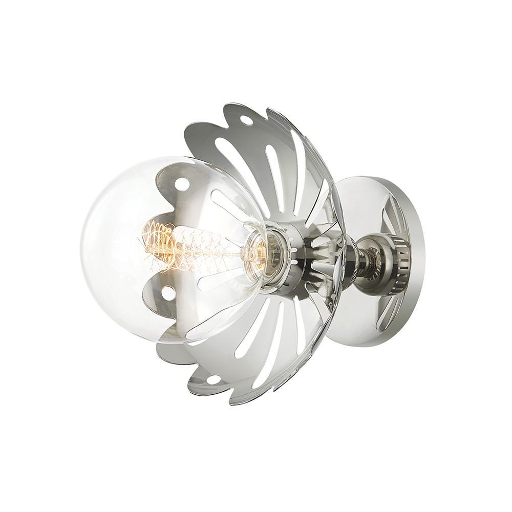 Alyssa 1-Light Polished Nickel Wall Sconce