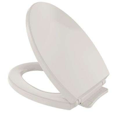 SoftClose Elongated Closed Front Toilet Seat in Sedona Beige