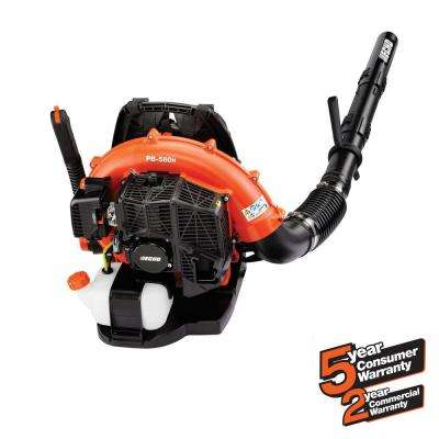 215 MPH 510 CFM 58.2cc Gas 2-Stroke Cycle Backpack Leaf Blower with Hip Throttle