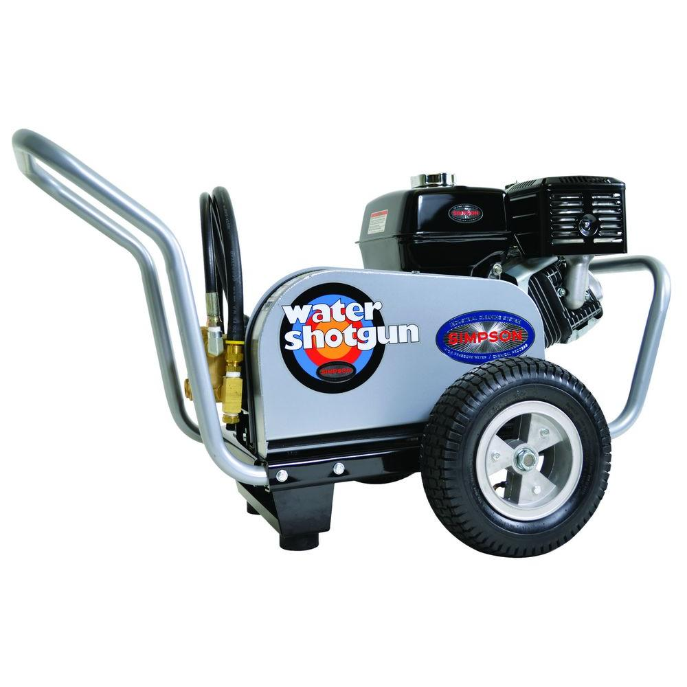 Simpson Water Shotgun 3,500 psi 4 .0 GPM Gas Powered Belt Drive Pressure Washer Powered by HONDA GX390 with General Pump