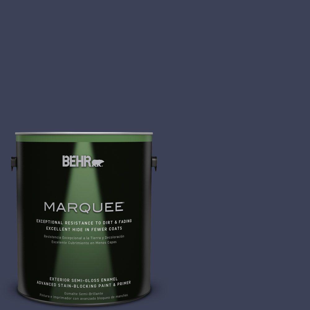 1 gal. #T16-10 Blue Vortex Exterior Semi-Gloss Enamel Paint