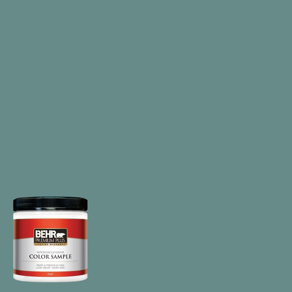 8 oz. #ECC-60-3 Pool Tide Interior/Exterior Paint Sample