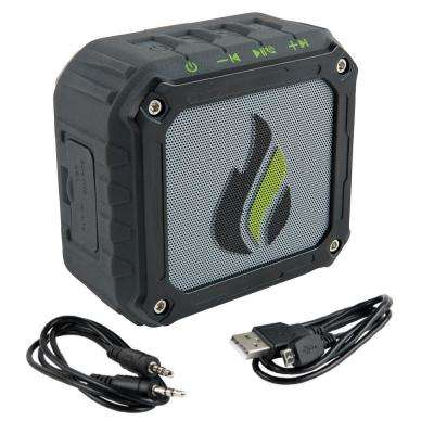 Water Resistant Rugged and Magnetic Wireless Portable Bluetooth Speaker, Rechargeable Battery with Aux and USB Cables