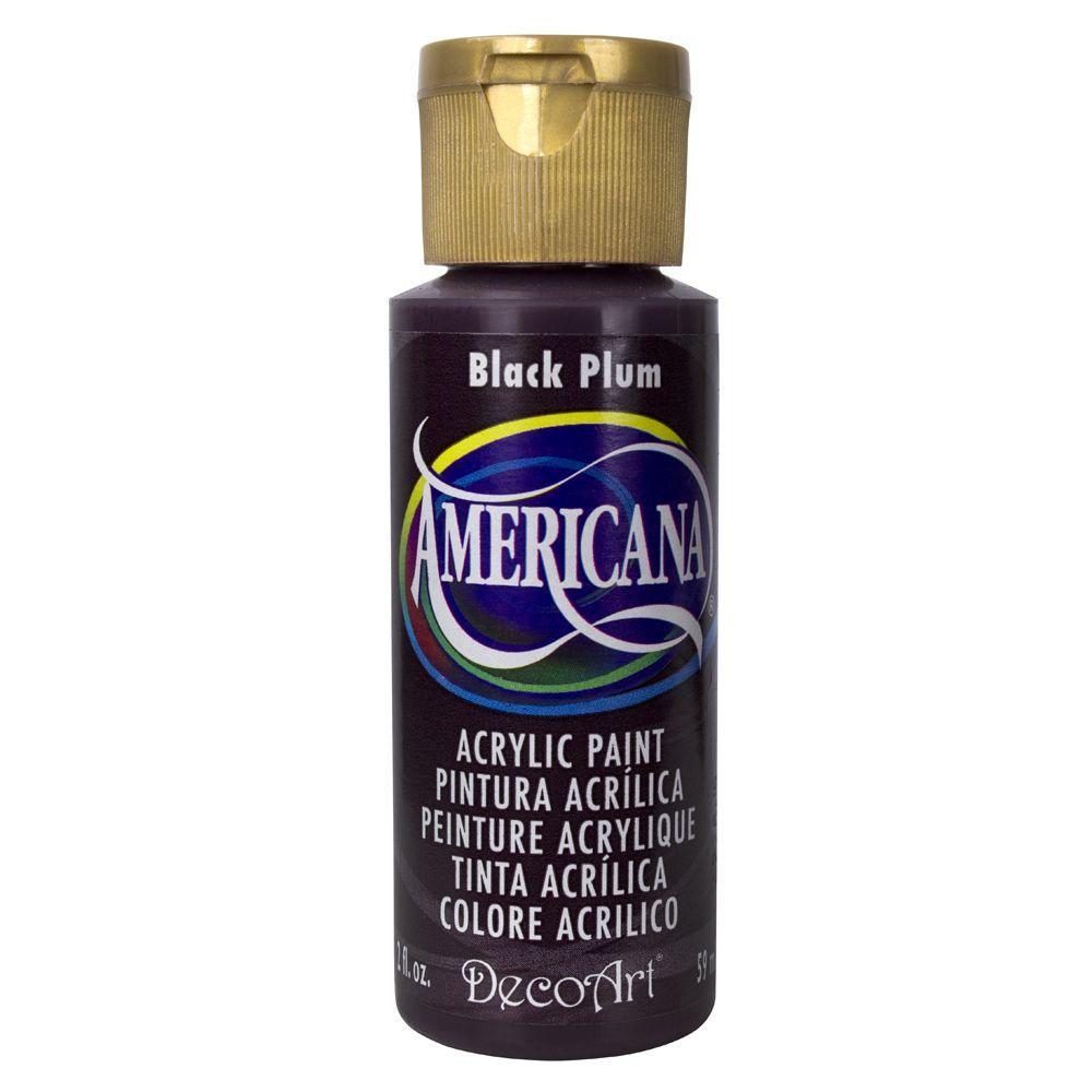 Americana 2 oz. Black Plum Acrylic Paint