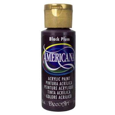 Americana 2 oz. Black Plum Acrylic Paint