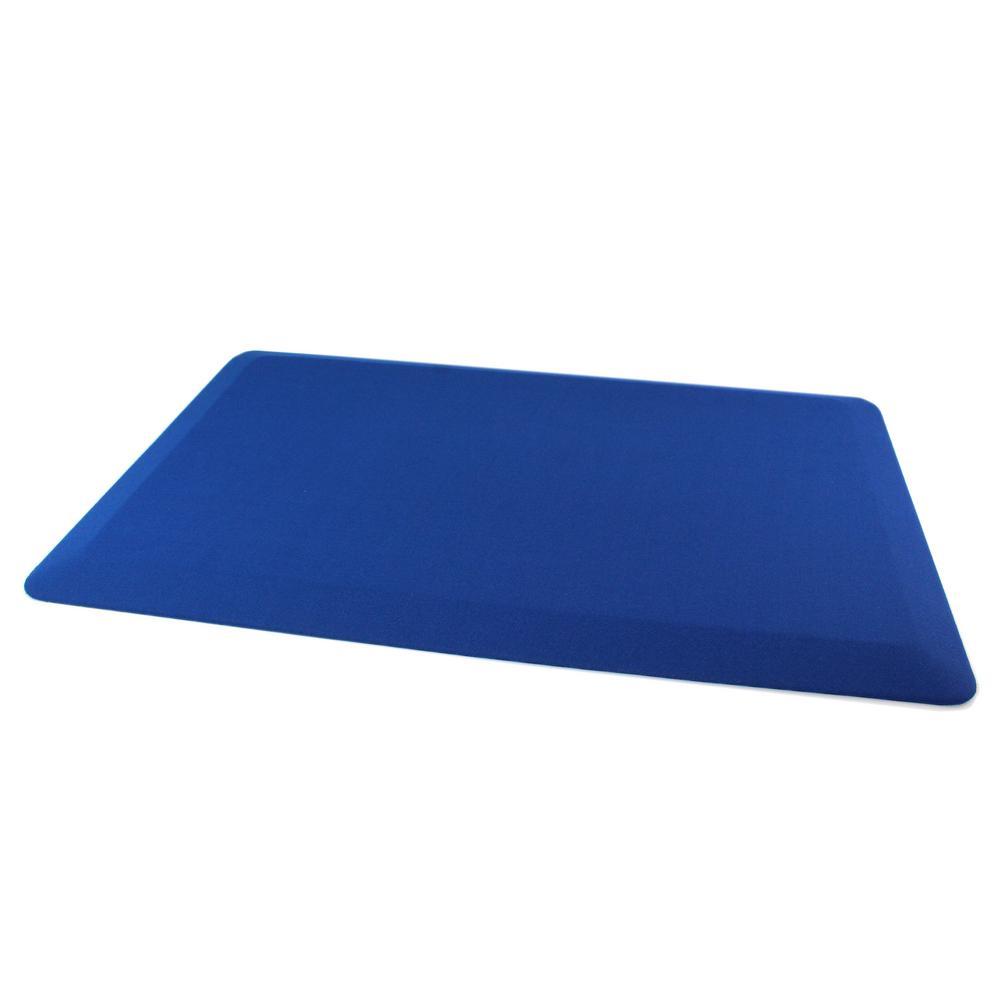 Floortex® Blue Standing Comfort 20 in. x 32 in. Luxury Anti-Fatigue Mat