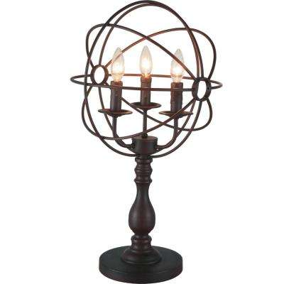Arza 25 in. Brown Table Lamp