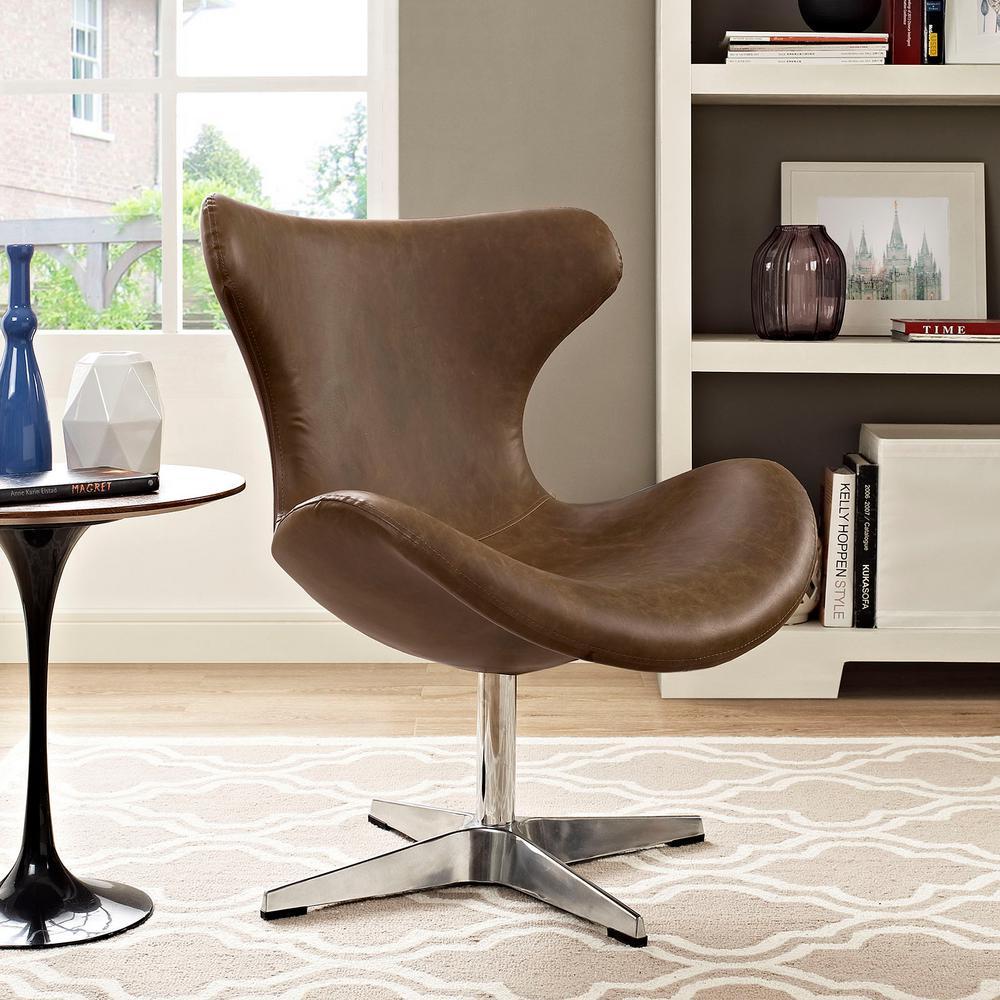 Helm Brown Lounge Chair