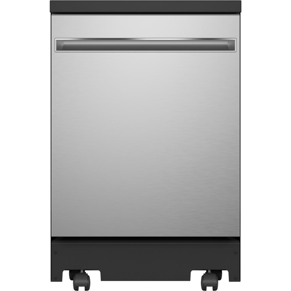 Ge Portable Dishwasher In Stainless