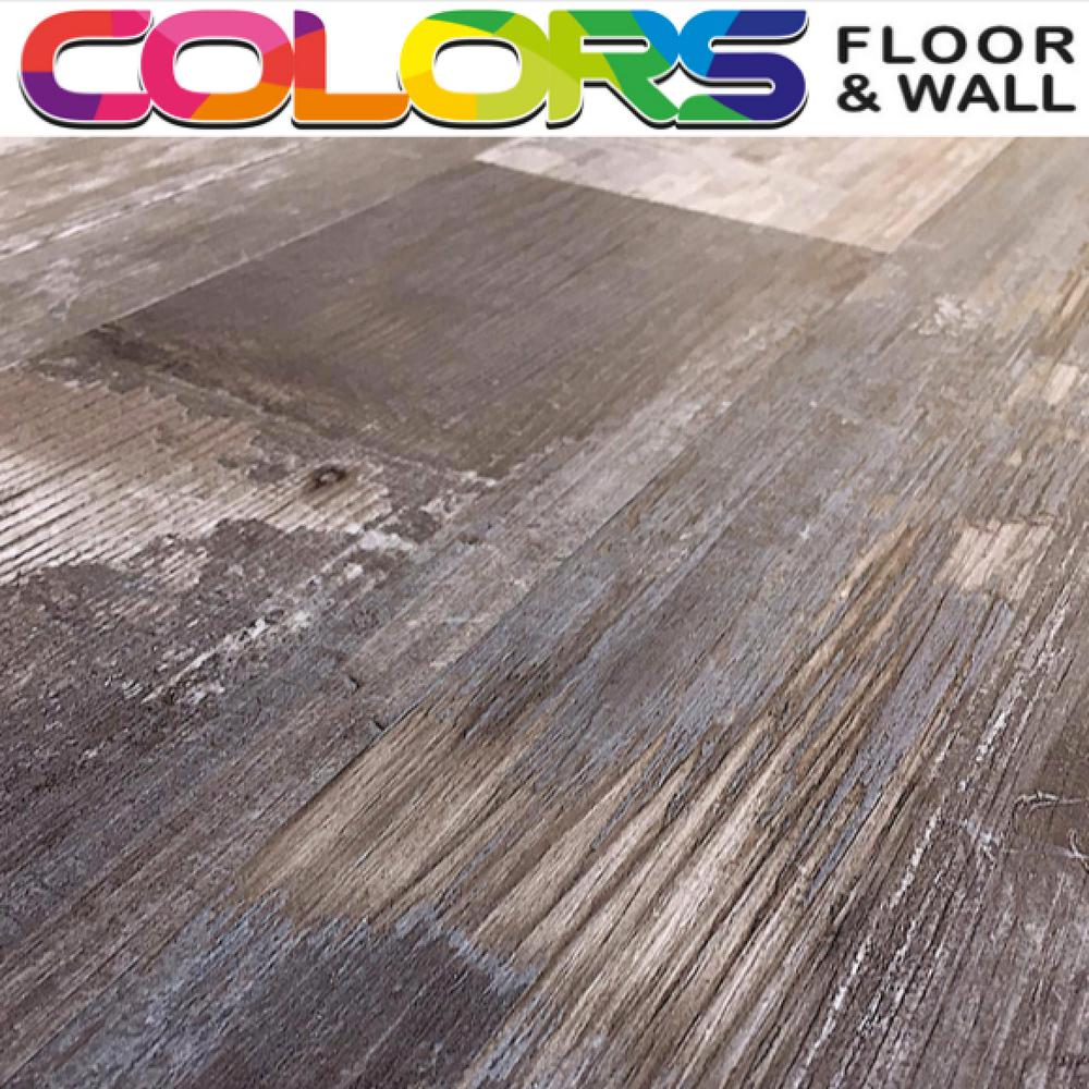 Deco Products Colors Floor and Wall DIY Reggae Wood Aged 6 in. x 36 in. Painted Style Luxury Vinyl Plank (30 sq. ft. / case)