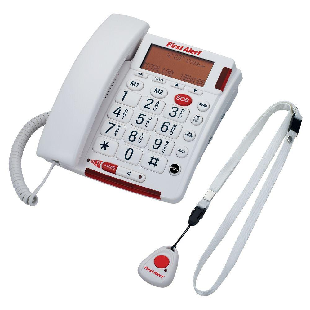 Digital Big Button Telephone with Emergency Key and Remote Pendant