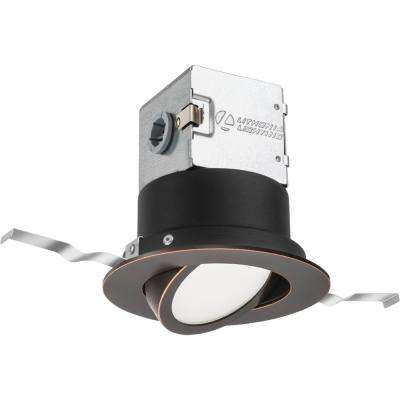 OneUp 4 in. Oil Rubbed Bronze Integrated LED Recessed Kit