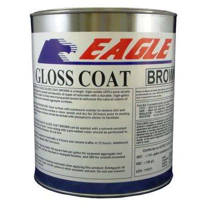 1 gal. Gloss Coat Brown Tinted Semi-Transparent Wet Look Solvent-Based Acrylic Exposed Aggregate Concrete Sealer