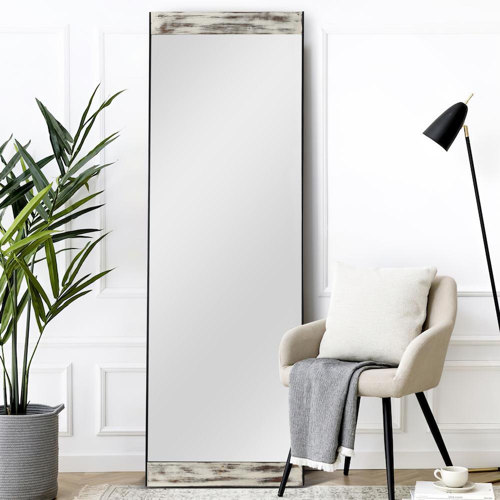 64.2 in. x 21.3 in. Modern Rectangle Wood Framed Full Length Standing Mirror