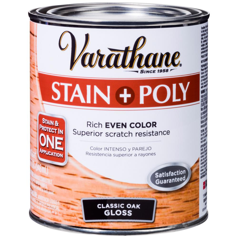 Varathane 1-qt. Oak Gloss Water-Based Interior Stain and Polyurethane (2-Pack)