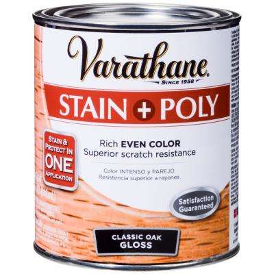 1-qt. Oak Gloss Water-Based Interior Stain and Polyurethane (2-Pack)