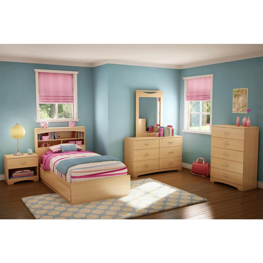 south shore urben twin kids storage bed