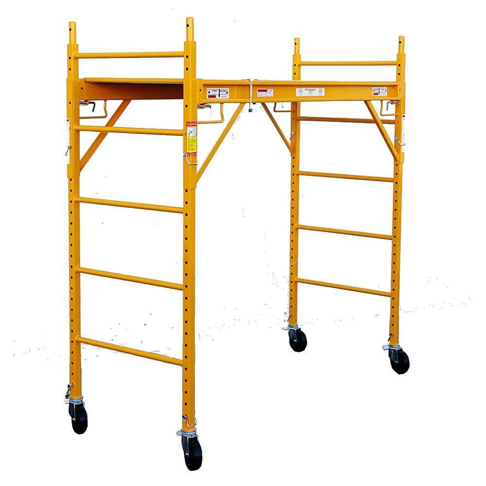 Fortress 6 ft. x 6 ft. x 29 in. Rolling Drywall Scaffold Unit 1000 lb. Load Capacity