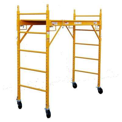 6 ft. x 6 ft. x 29 in. Rolling Drywall Scaffold Unit 1000 lb. Load Capacity