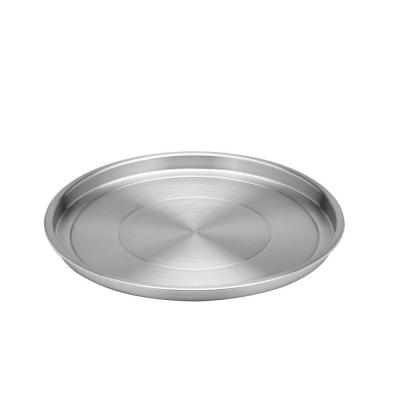 12 in. Round Brushed Stainless Steel Tray