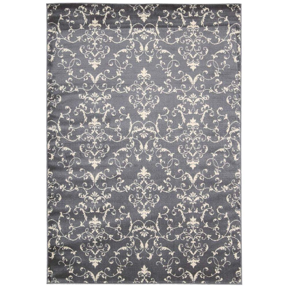 Nourison Nova Grey 5 ft. 3 in. x 7 ft. 3 in. Area Rug