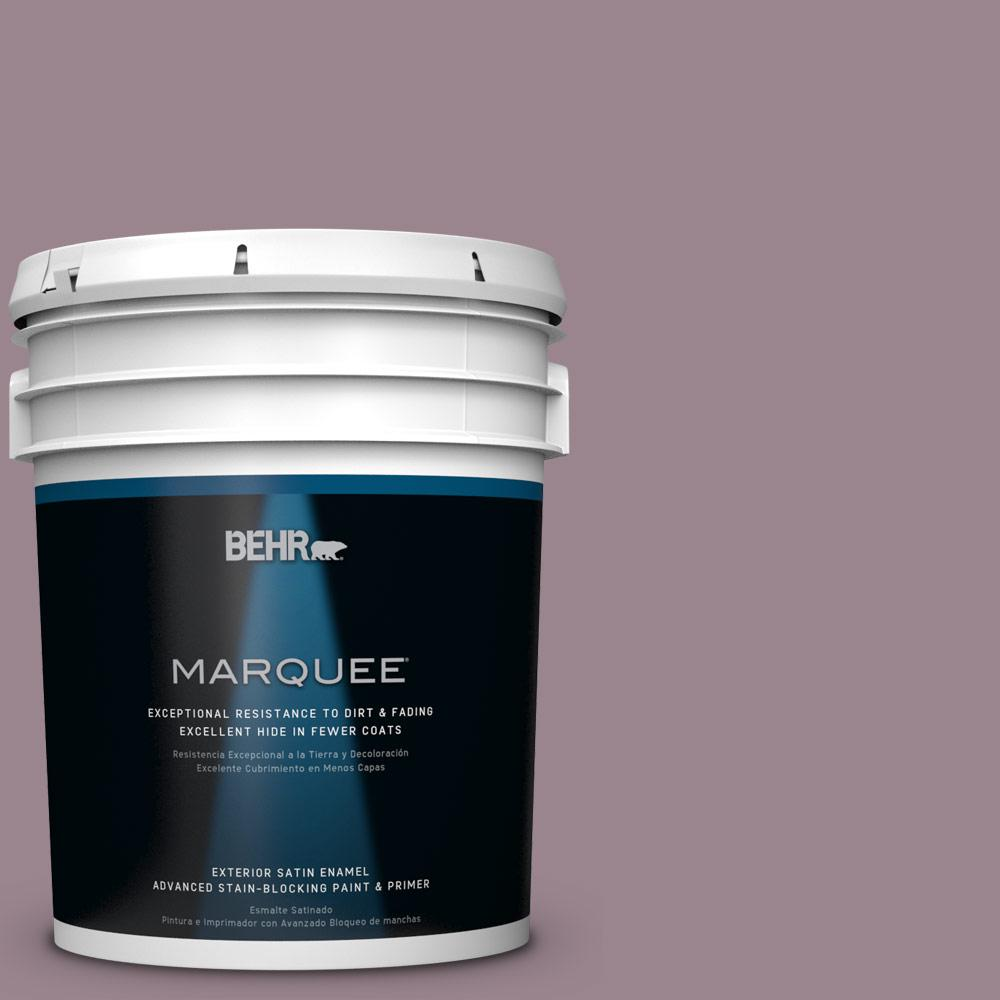 BEHR MARQUEE 5-gal. #HDC-CL-05 Orchard Plum Satin Enamel Exterior Paint