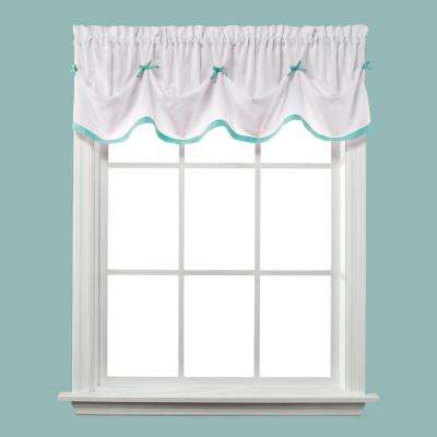 Kayla 13. in. L Polyester Valance in Turquoise
