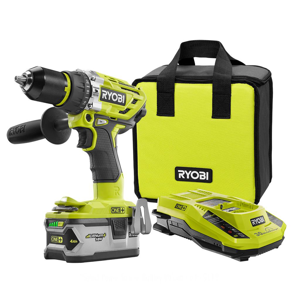 Ryobi 18 Volt One Lithium Ion Brushless Cordless 1 2 In Hammer Charger Battery Variable Current Up To 2a By L200