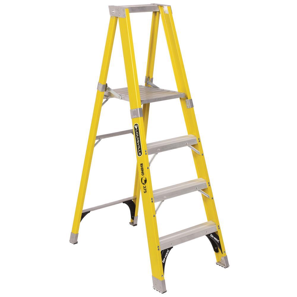Louisville Ladder 4 ft. Fiberglass Platform Step Ladder with 375 lbs. Load Capacity Type IAA Duty Rating