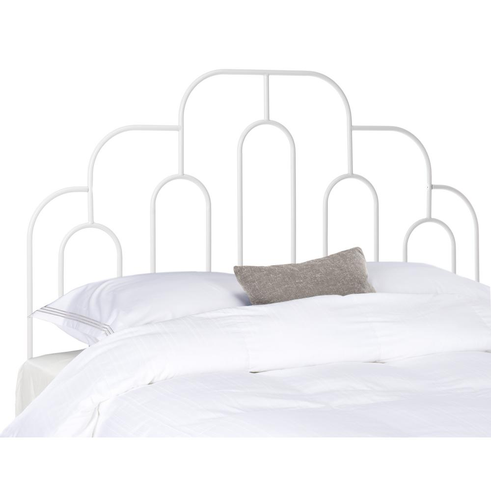 Safavieh Paloma Metal Retro White Full Headboard Hbd6201b F The Home Depot