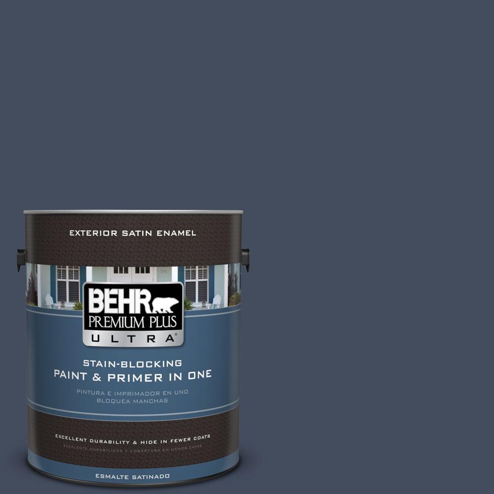 BEHR Premium Plus Ultra 1-gal. #S520-7 Night Flight Satin Enamel Exterior Paint