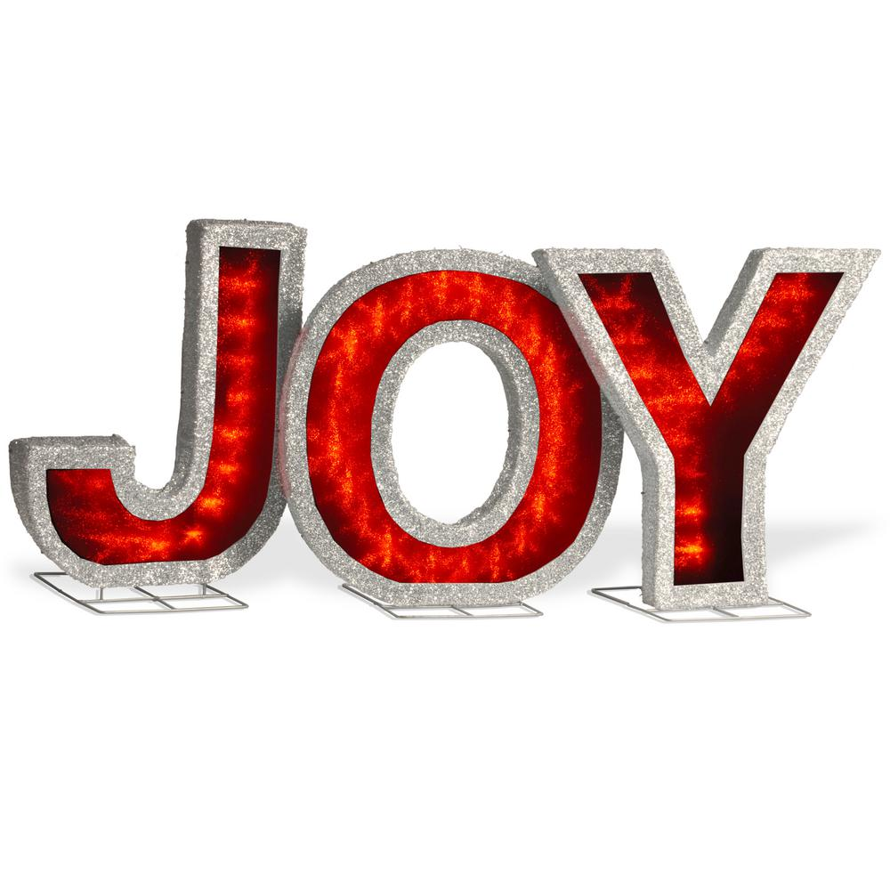 National Tree Company 18.5 in. JOY Sign with LED Lights-DF-000021X ...