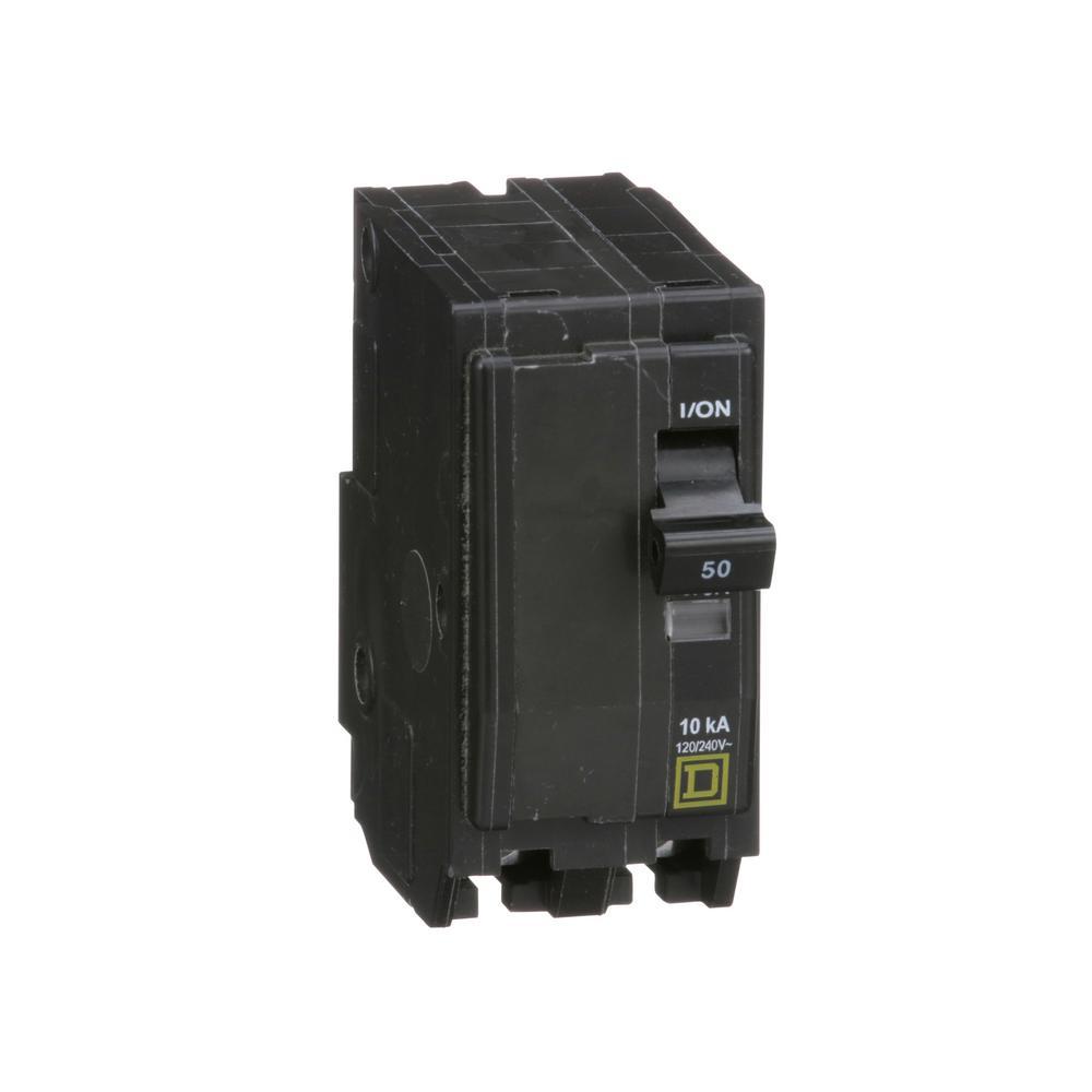 QO 50 Amp 2-Pole Circuit Breaker (6-pack)