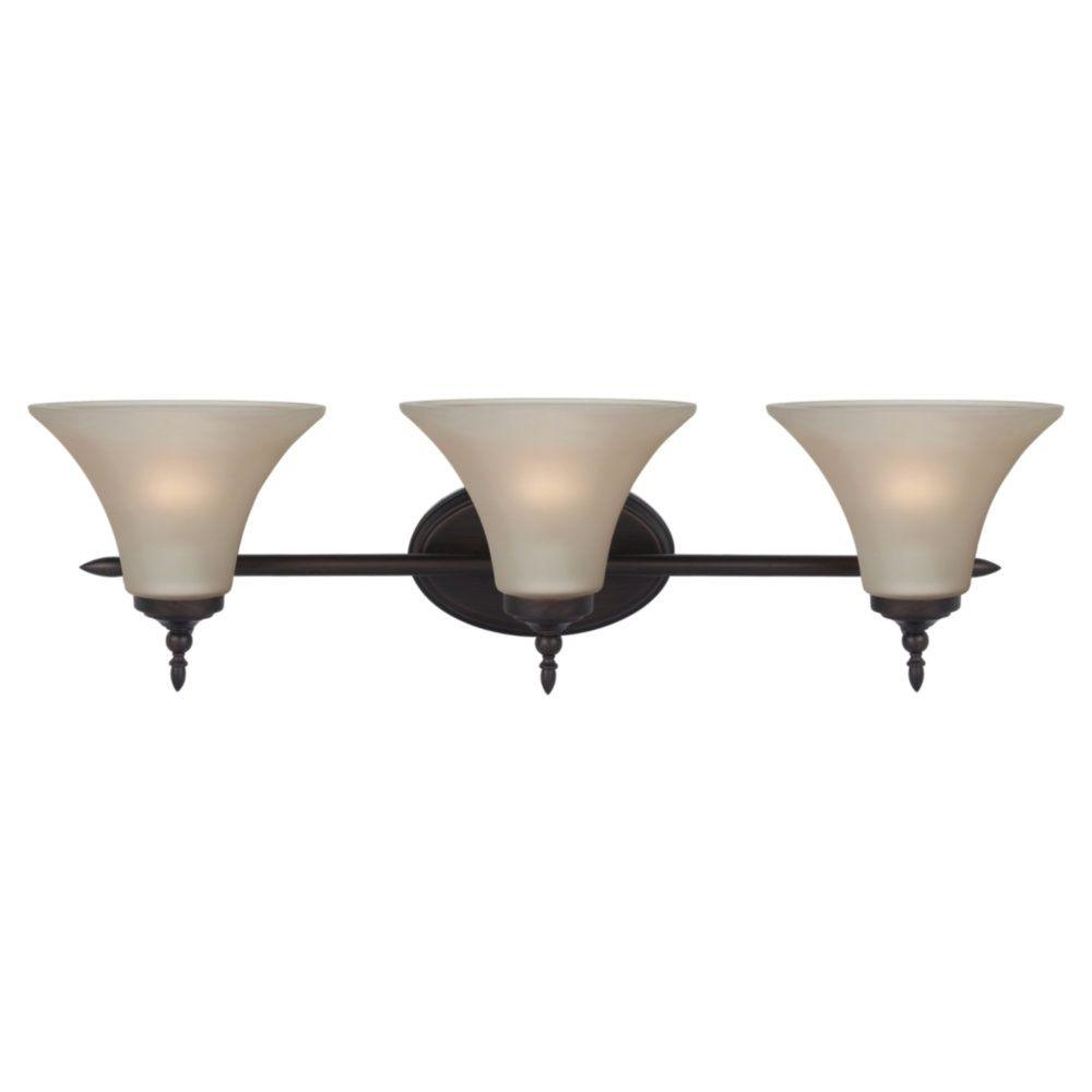 Sea Gull Lighting Montreal 3-Light Burnt Sienna Vanity Light