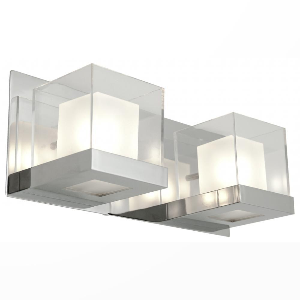 Anabelle 2-Light Chrome Bath Light