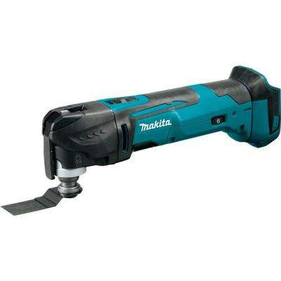 18-Volt LXT Lithium-Ion Cordless Variable Speed Oscillating Multi-Tool (Tool-Only) With Blade and Accessory Adapters