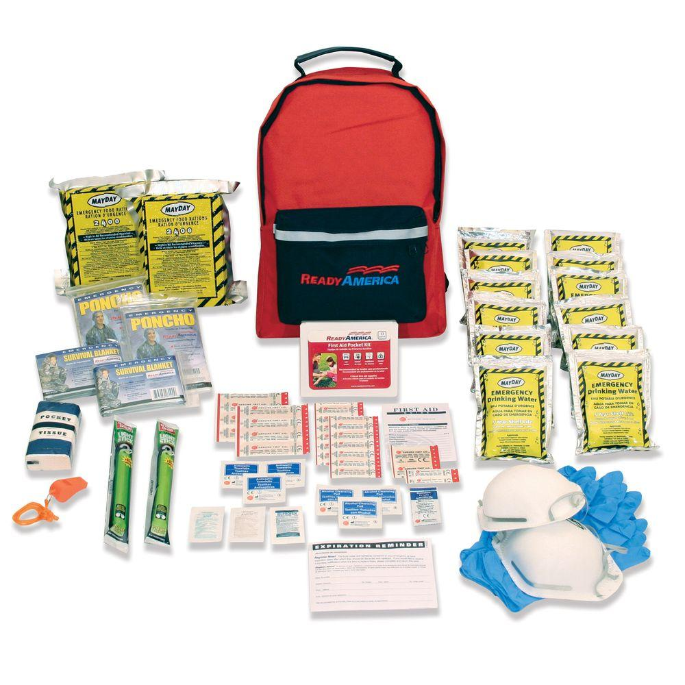 Ready America 2-Person 3-Day Emergency Kit with Backpack