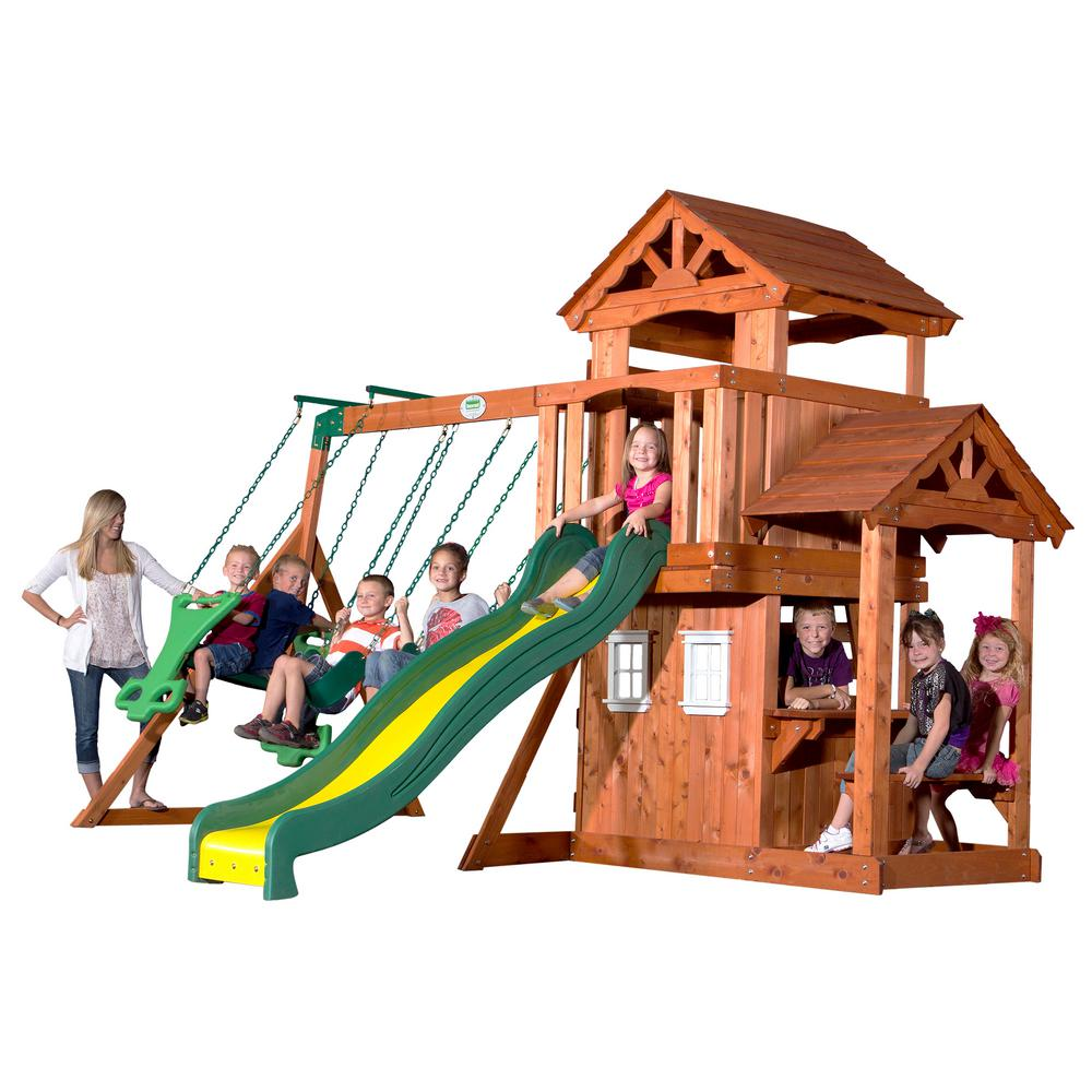 Backyard Discovery Tanglewood All Cedar Playset