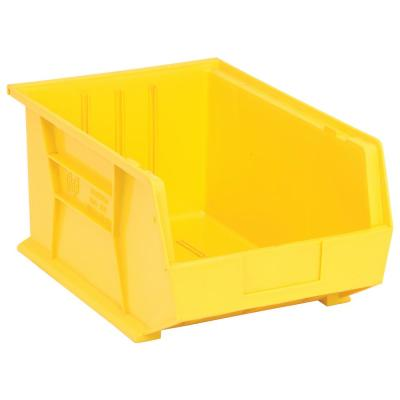 Ultra Series Stack and Hang 8.9 Gal. Storage Bin in Yellow (4-Pack)