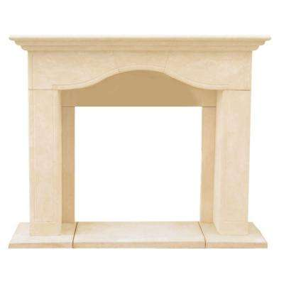 Chateau Series Marissa 52 in. x 62 in. Cast Stone Mantel