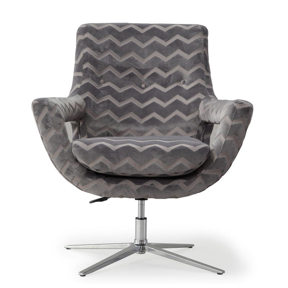 Beau TOV Furniture Fifi Grey Swivel Chair