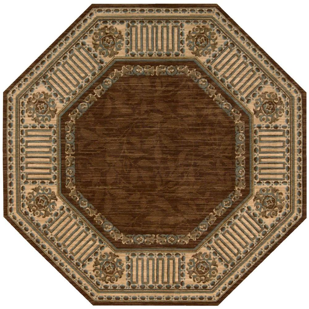 Nourison Vallencierre Brown 6 Ft X Octagon Area Rug